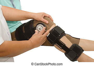 doctor adjustable angle knee brace support for leg or knee...