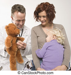 Doctor and child.