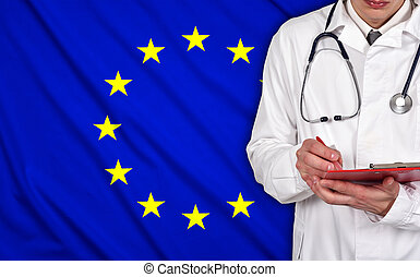 Doctor and EU flag