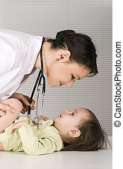 doctor and little girl