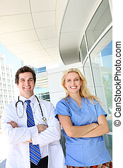 Doctor and Nurse at Hospital