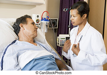 Doctor And Patient Talking To Each Other