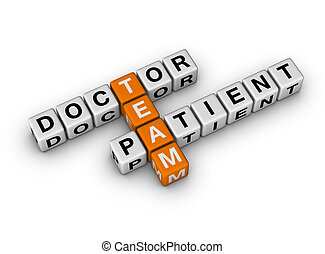 Doctor and Patient Team  (3D crossword orange series)