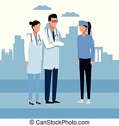 Doctor and people