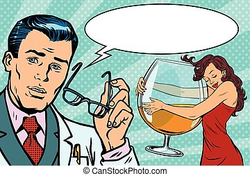 doctor and woman alcoholic
