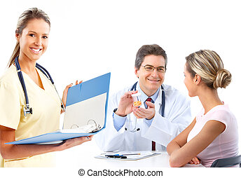 doctor and woman patient - Medical doctor and young woman...