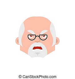 Doctor angry emotion avatar. Physician evil emoji. Vector ...