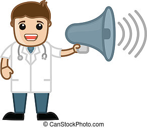 Doctor Announcing Cartoon Character