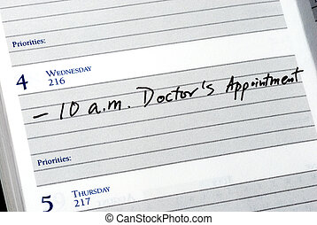 Doctor appointment in the planner