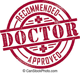 Doctor Recommended/Approved vintage style rubber stamp