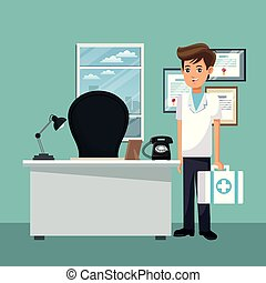 Doctor at office
