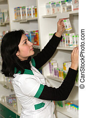 Doctor at pharmacy