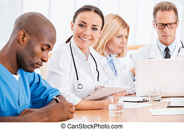 Doctor at the meeting.