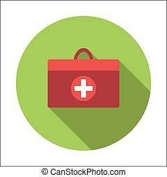 Doctor bag flat icon