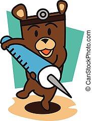 Doctor bears vector art