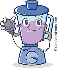 Doctor blender character cartoon style