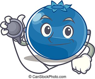 Doctor blueberry character cartoon style