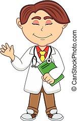 Doctor - Boy cartoon
