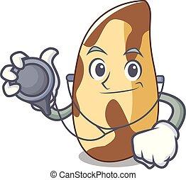 Doctor brazil nut character cartoon