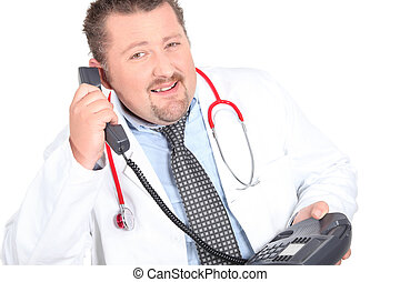 Doctor calling patient with results