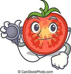 Doctor character tomato slices for food decor