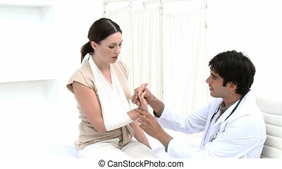 Doctor Checking a female patient