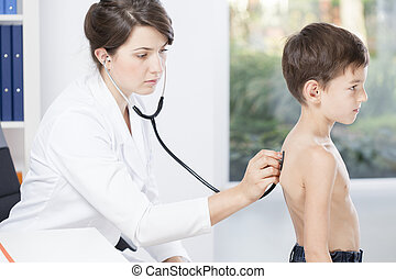Doctor checking the patient
