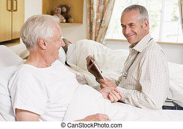 Doctor Checking Up On Senior Man