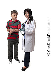 Doctor child medical checkup