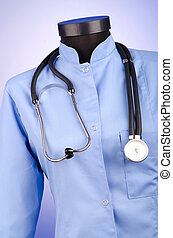 Doctor coat with the stethoscope