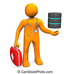 doctor, con, base de datos