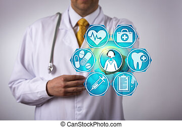 Doctor Contacts Patient Via Tele Conference Call