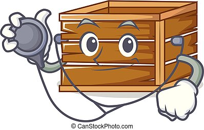 Doctor crate character cartoon style