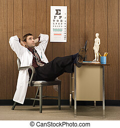 Doctor daydreaming.