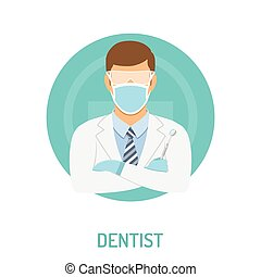 doctor dentist concept - medical concept with dentist...