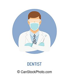 Doctor dentist concept - medical concept with doctor dentist...
