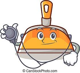 Doctor dustpan character cartoon style