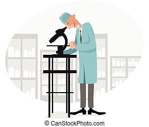 doctor, en, laboratorio
