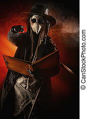 doctor epidemic - Terrible plague doctor. Medieval Europe. ...