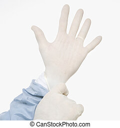 doctor, gloves.