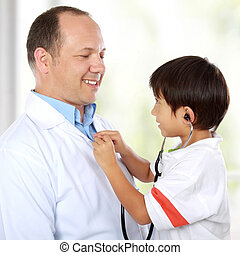 doctor have fun with his patient