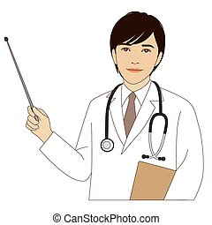 Doctor holding a pointer stick