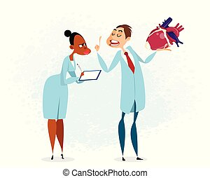 Doctor holding heart in hand