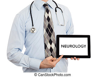 Doctor holding tablet - Neurology