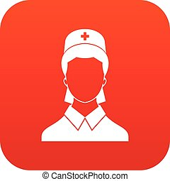 Doctor icon digital red