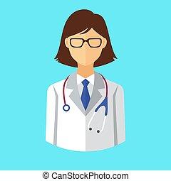 Doctor icon. Vector illustration.