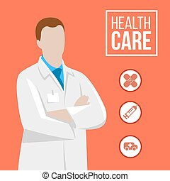 Doctor illustration - Vector doctor illustration with...