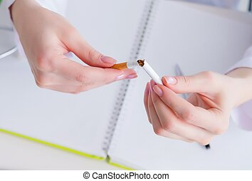 Doctor in anti smoking concept - The doctor in anti smoking ...