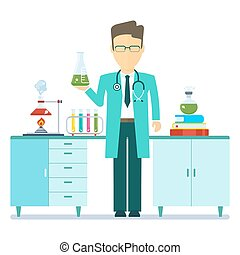 doctor in chemical lab