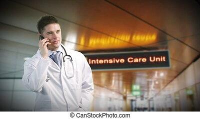 Doctor in hospital ward